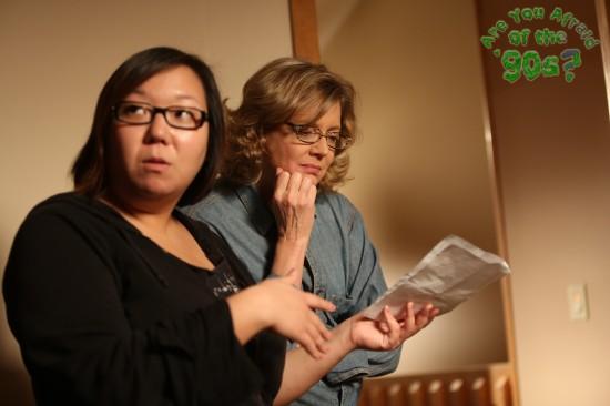 Director Kate Moran with actress Kristine Sutherland