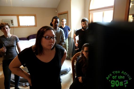 Director Kate Moran in video village