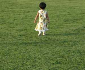 Remember when you were like this little girl walking in a grassy field? Yeah, me neither. Photo credit: https://www.flickr.com/photos/4444/