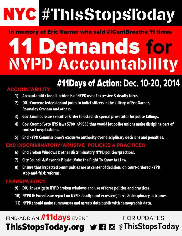 11 Demands for Accountability