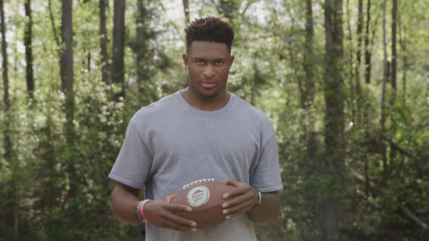 Still from video featuring DK Metcalf